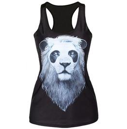 Black Panda Lion Tank Top Design 13092