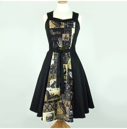 The Raven Edgar Allan Poe 50s Rockabilly Halter Swing Dress Free Shipping