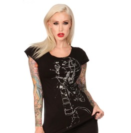 Jawbreaker Clothing Wishbone Locket Ribcage T Shirt