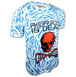 Rebellious Bastards Philipp Plein Is Dead Men's Designer Fashion T Shirt Tee