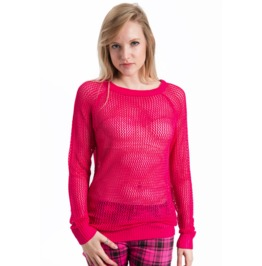 Jawbreaker Clothing Show Me Fishnet Pink Sweatshirt
