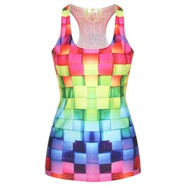 Rainbow Thatch Tank Top Design 13006