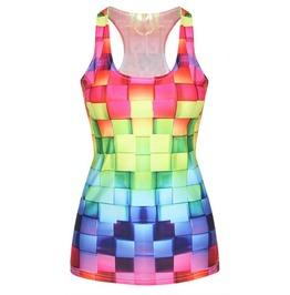 Rainbow Thatch Tank Top Design 13006
