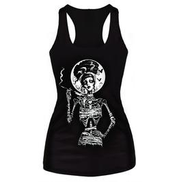 Zombie Moon Black Tank Top Design 13062