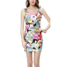 Adventure Time Bro Ball Sleeveless Mini Dress Design 3038