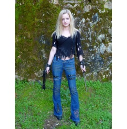 Women's Apocalyptic Jeans, Mad Max Style, Rock & Roll, Wasteland Warrior
