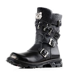 Punk Men Tooling Boots Men Military Boots England Combat Boots Martin Boots