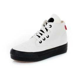 Punk Skull White Women Canvas Shoes