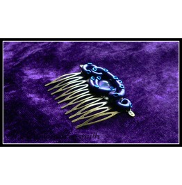 Lovecraft Inspired Tentacle & Eye Hair Comb With Purple Tentacles