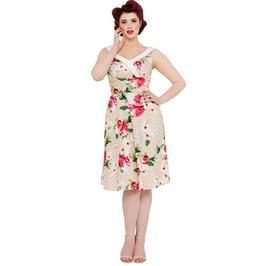 Voodoo Vixen Lillian Pink Spring Flowers Sleeveless Dress