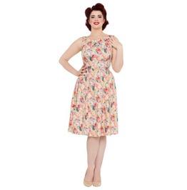 Voodoo Vixen Pollyanna 50's Spring Flower Belted Dress