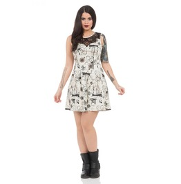 Jawbreaker Clothing Ocean Print Naughty Nautical Dress