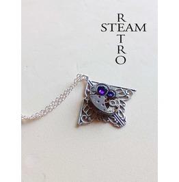 Mackintosh Art Deco Steampunk Purple Necklace Steampunk Jewellery