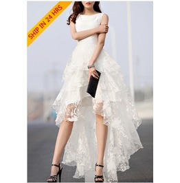White Gauze Fantasy Dress Dres0715 B522 G Chw Read Our Size Chart B 4 U Buy!