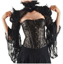 Gothic Goth Burlesque Vintage Shrug Shoulder Bolero Jacket
