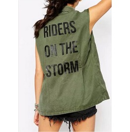 Military Casual Sleeveless Jacket Women's