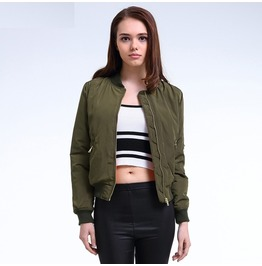 Flight Army Green Bomber Jacket Women's