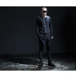 2016 New Fashion Design Zipper Style Men's Long Sleeve Asymmetric Sh