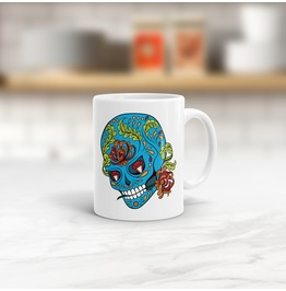 Sugar Skull Mug 01 Choose Your Colours