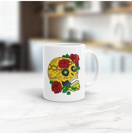 Sugar Skull Mug 02 Choose Your Colours