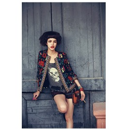 Embroidery Floral Print Ethnic Style Jackets Women's