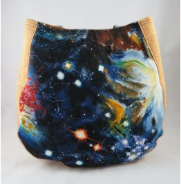 Cosmic Charla Purse With Cork Accents And Straps Vegan