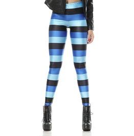 Black And Blue Stripes Leggings Design 31