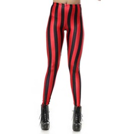 Black And Red Stripes Leggings Design 200