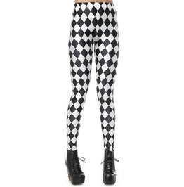 Black And White Jester Leggings Design 243