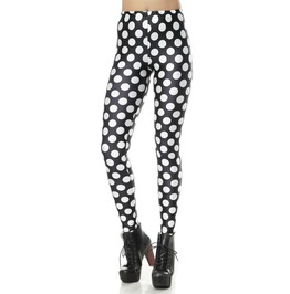 Black And White Polka Dots Leggings Design 245