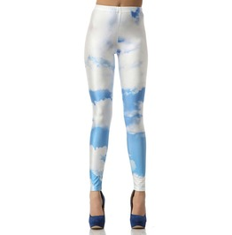 Blue And White Clouds Leggings