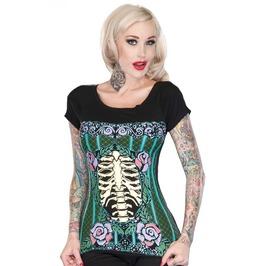 Jawbreaker Clothing Bones And Roses Corset T Shirt