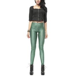 Dark Green Mermaid Leggings