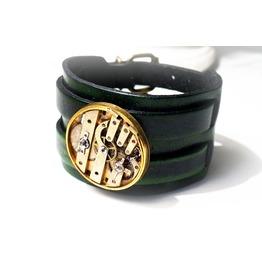 Steampunk Bdsm Mad Max Mens Bracelet Leather Cuff Gift For Him Burning Man