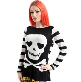 Jawbreaker Clothing Steam Punk Knitted Poison Sweatshirt