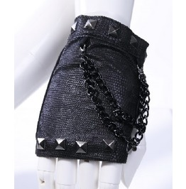 Gothic Goth Punk Rock Metal Biker Steampunk Black Fingerless Gloves