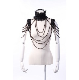 Gothic Goth Steampunk Burlesque Vintage Victorian Necklace Shrug Shoulder
