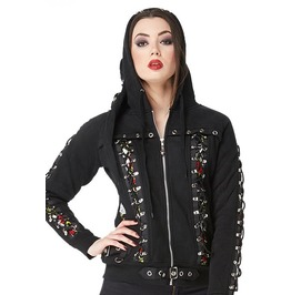 Jawbreaker Clothing Goth Inspired Black Hoodie With Buckle