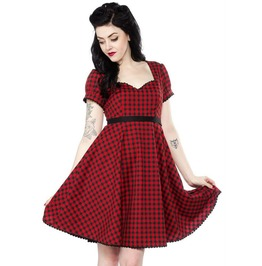 Sourpuss Marcy Dress In Red