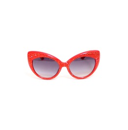 Classic Cat Swarovski® Sunglasses In Red
