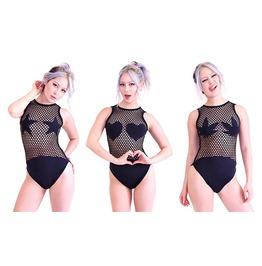 Mesh Net Bodysuit (Stars, Weed, Hearts) 3 Styles!!!