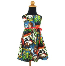 Girl's Adorable Red Ribboned Monster Dress Only Free To Ship Anywhere