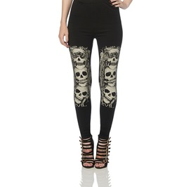 Jawbreaker Clothing Peekaboo Skull Leggings