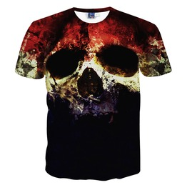 Skull Print Fashion Men's T Shirts