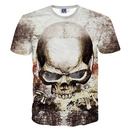 2016 New Skull Print Fashion Men's T Shirts