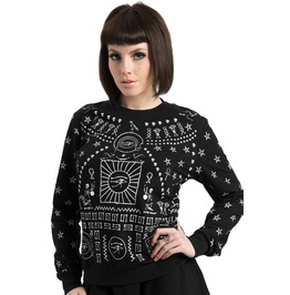 Jawbreaker Clothing Black Printed Hieroglyph Sweatshirt