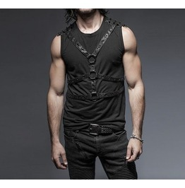 Gothic Rock Metal Fetish Sleeveless Shirt Top Tank