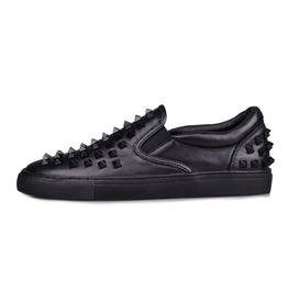 Punk Slip On Leather Sneaker