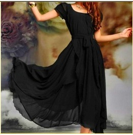 Short Sleeve Vintage Style Maxi Vintage Dress Sv000664 Cnn Runs Small!