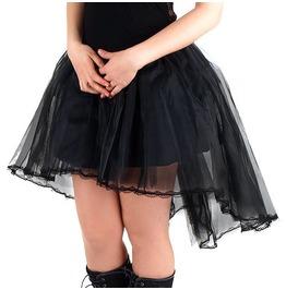 Burlesque Gothic Victorian Opera Black Petticoat Tulle Under Skirt